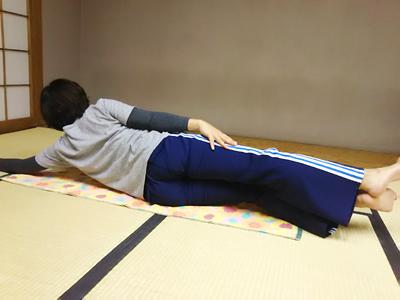 最後のダラ~っと寝ているとき、先生の声が心地いいなぁ~、今月も終わったなぁ~と思ってます 画像